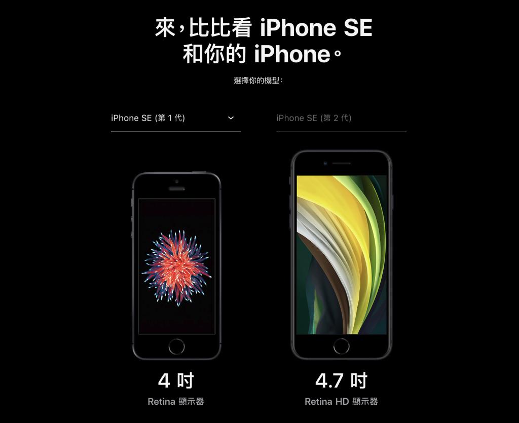 iPhone SE 新舊尺寸比較